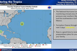 A depression forming over the southern Gulf of Mexico does not appear to be a threat to southeast Texas.