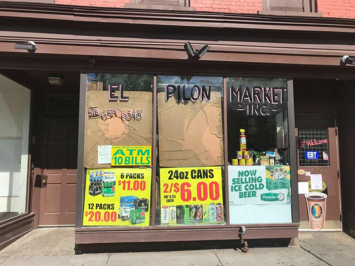 Graffiti and damage along South Pearl Street in Albany Sunday May 31, 2020 after rioting Saturday night.