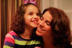Julie Leinonen with her severely autistic daughter, Mia, who's now 7 years old.