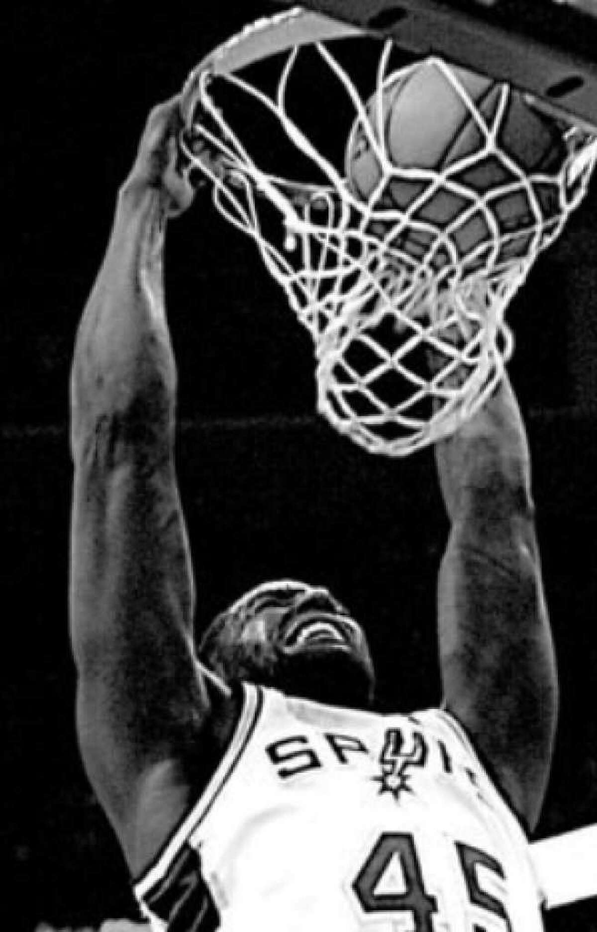 DeJuan Blair dunks during a win over the 76ers last month.