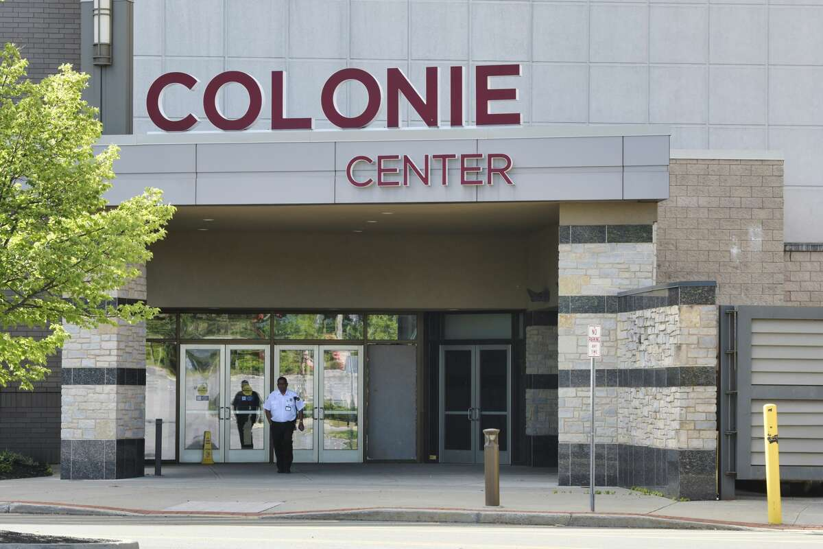 A door is boarded up at Colonie Center after it was burglarized overnight Sunday, May 31, 2020. It's believed to be connected to massive looting and damage done in Albany.