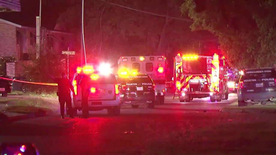 A man was killed and four people wounded — including two children — as gunfire erupted at a large block party in south Houston, police said. Photo: Metro Video Services
