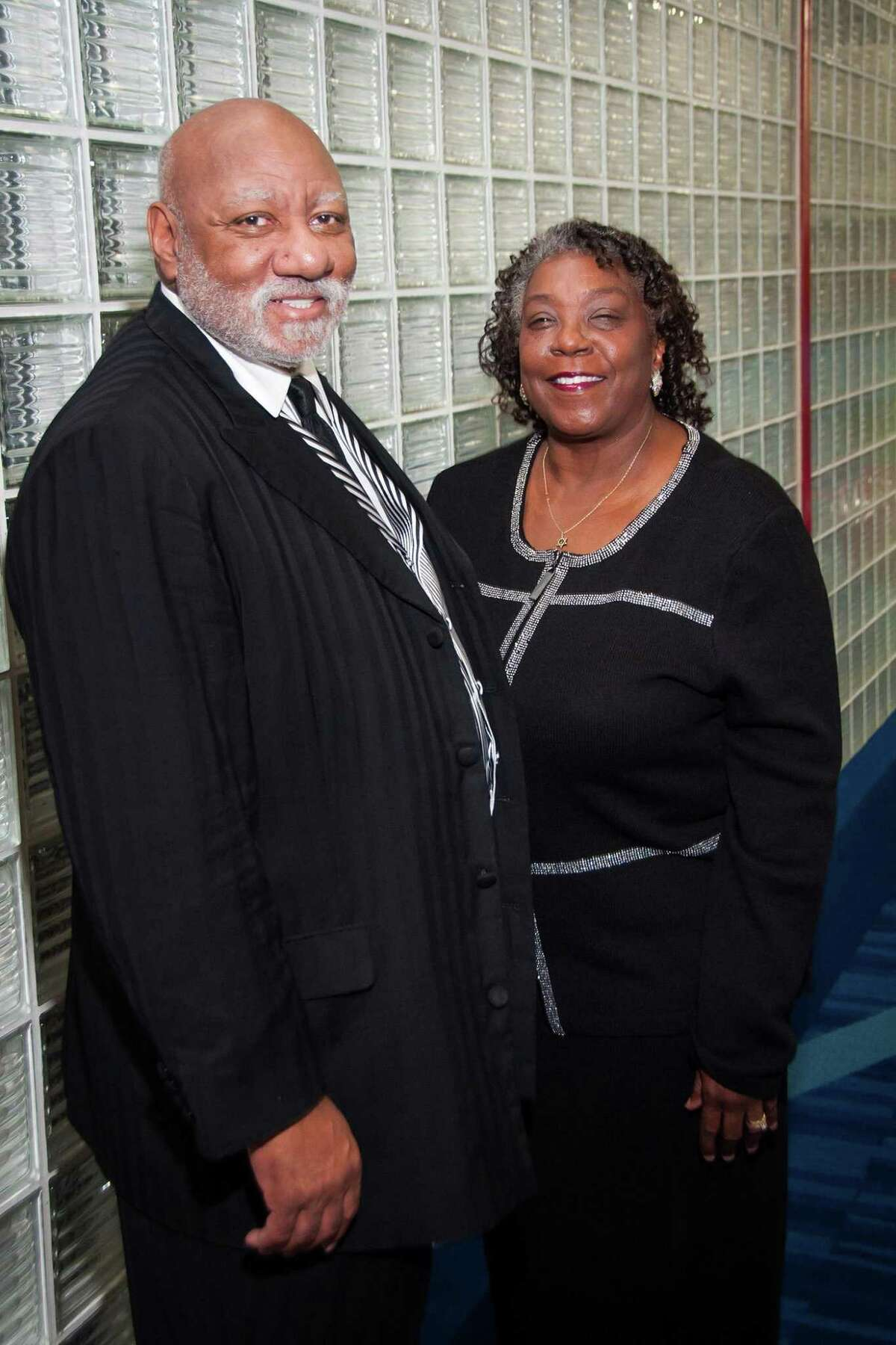 Rev. Manson Johnson and Zelda Johnson second annual Visionary Pastor's Awards ceremony at the George R. Brown Convention Center.