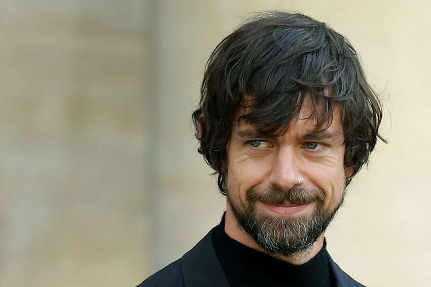 FILE - In this June 7, 2019, file photo, Twitter CEO Jack Dorsey leaves after his talk with French President Emmanuel Macron at the Elysee Palace in Paris. Dorsey has pledged millions to civil rights and coronavirus causes.