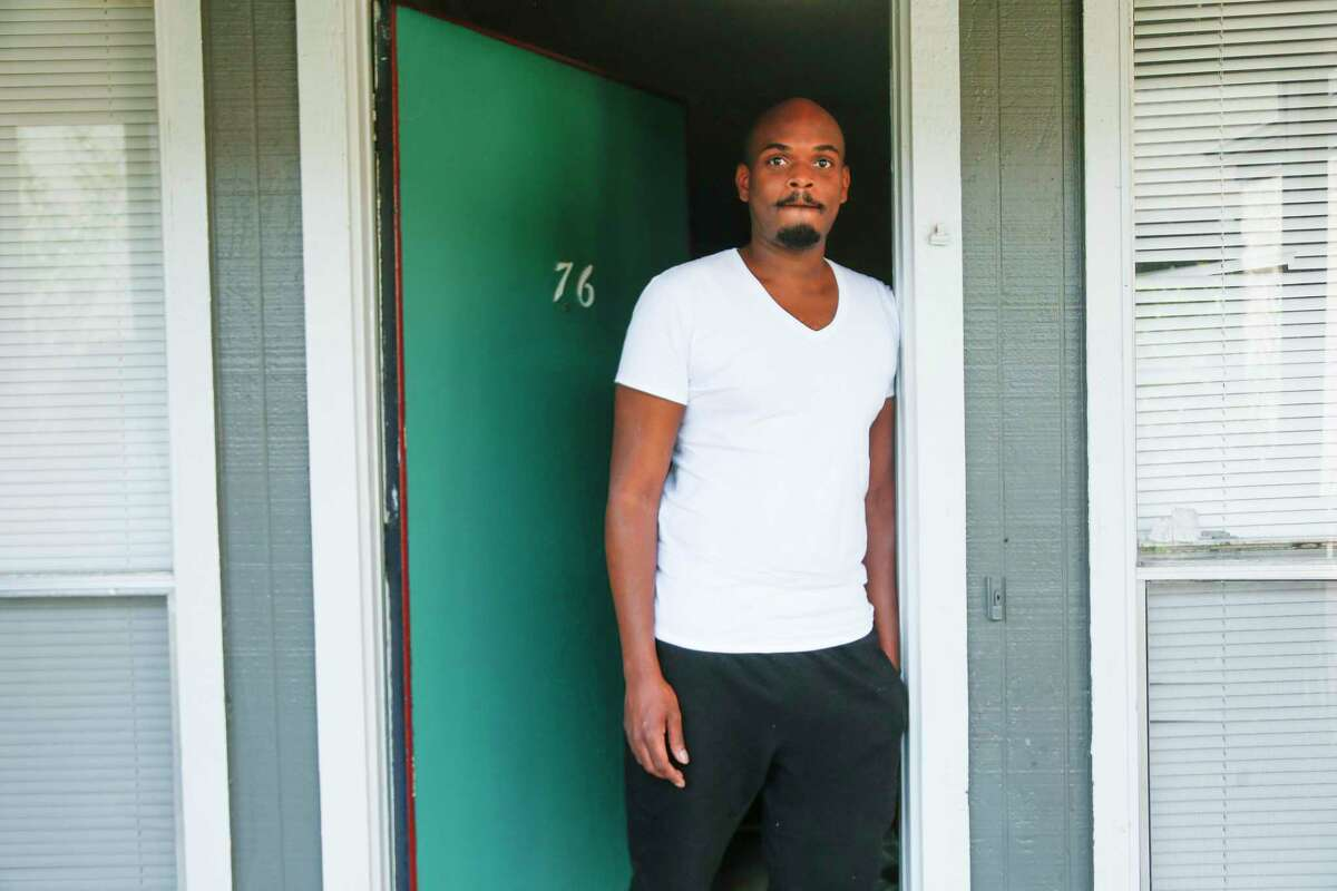After being laid off from his temping job, Jason Bledsoe is facing eviction in Houston.