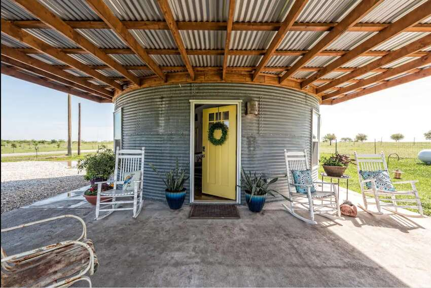 The Silo House At Laughing Llama FarmTroy1 bedroom|2 beds|1 bath$123/night This unique and secluded home near Waco is a renovated grain bin. It has an upstairs loft, and modern artistic charm throughout this one-of-a-kind Airbnb.