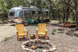 The Happy Camper at Jacob's Well   Wimberley 1 bedroom|2 beds|1 bath $115/night     This retro remodeled 1976 Airstream Land Yacht is the perfect place to experience camping among the beauty of the Hill County. Situated just minutes from Jacob's Well.