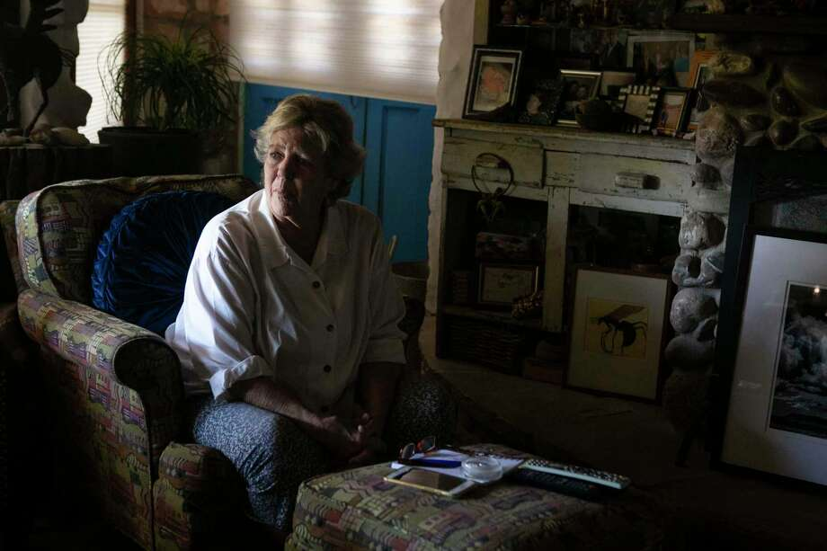 "Mimi Webb Miller, 71, talks in her home in Terlingua, Texas, on May 26, 2020. Webb Miller owns several businesses in the Ghost Town including a cafe and a hotel and serves on the tourism board for Brewster County and has been concerned about the potential spread of the coronavirus. ""I've never been in a position where a company wilted on me,"" says Webb Miller of the toll the pandemic has taken on her businesses. Despite the financial hardships, she has been very cautious about reopening as there is very limited access to healthcare in Terlingua- the closest hospital is over an hour away and has only a few ventilators. ""I'm worried about us being infected,"" she says. ""In this community it (COVID-19) would just sail. It would not be contained."" Photo: Josie Norris, The San Antonio Express-News / Staff Photographer / **MANDATORY CREDIT FOR PHOTOG AND SAN ANTONIO EXPRESS-NEWS/NO SALES/MAGS OUT/TV"