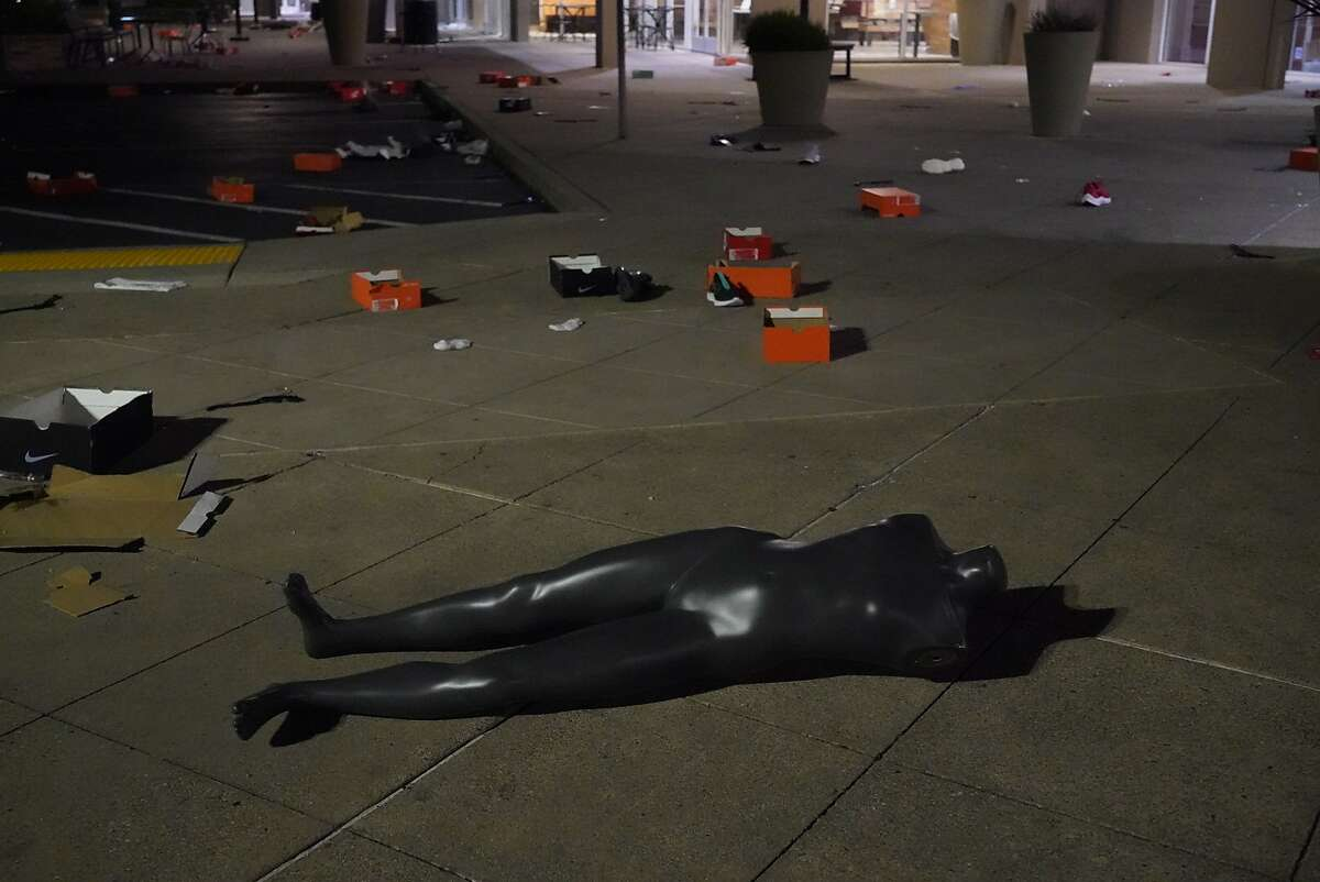 The Nike Clearance Store and Converse store were looted on Sunday, May 31, 2020 in San Leandro, Calif.