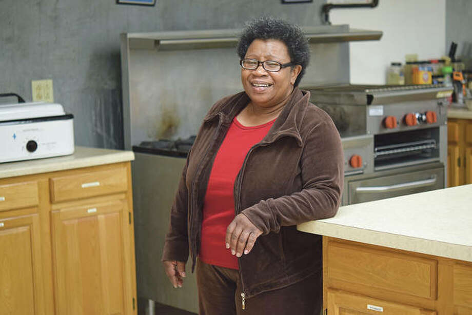 Polly Pulley inside the Spirit of Faith Soup Kitchen in Jacksonville. Photo: David Blanchette | Journal-Courier