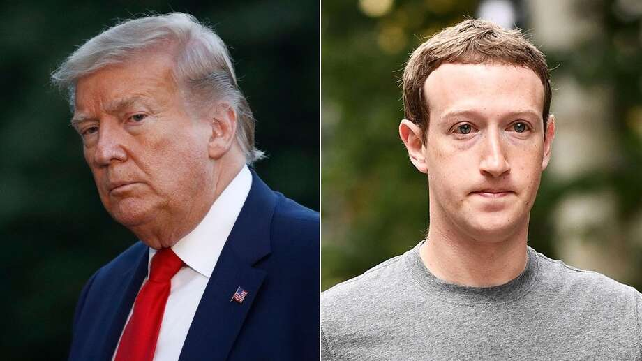 Photo: Patrick Semansky/AP/Shutterstock (Trump); Rob Latour/REX/Shutterstock (Zuckerberg)