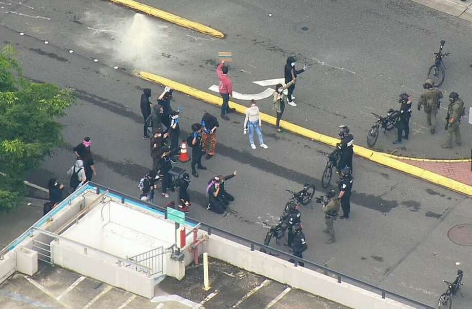 Bellevue looks to clean up after protests, looting. Photo: Courtesy Of KOMO News