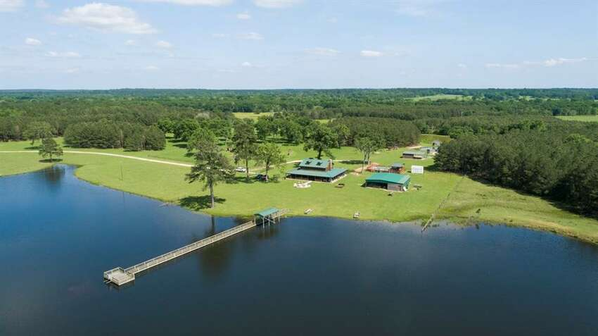 Secluded away off Highway 21 in Crockett, Texas, this massive ranch was recently listed at $2,975,000.