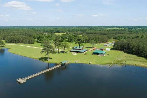Secluded away off Highway 21 in Crocket, Texas, this massive ranch was recently listed at $2,975,000.