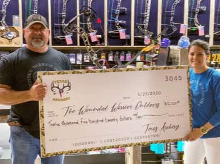 Texas Archery, located in Spring, announces the raising of $12,520 for a much-needed veterans nonprofit organization, Wounded Warrior Outdoors program (WWO). Photo: Courtesy Photo