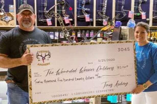 Texas Archery, located in Spring, announces the raising of $12,520 for a much-needed veterans nonprofit organization, Wounded Warrior Outdoors program (WWO).