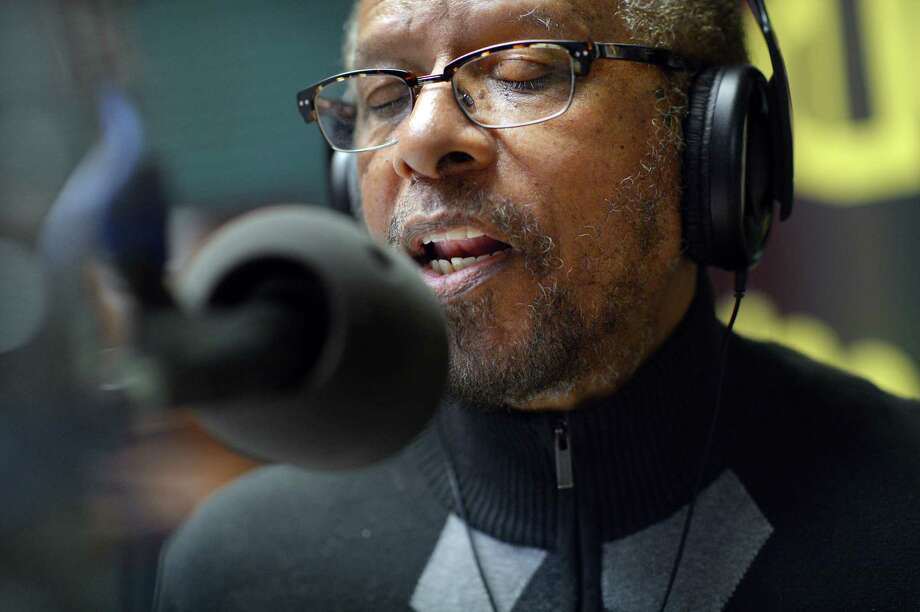 """Robert """"Brother Ah"""" Northern hosts """"The Jazz Collectors"""" on April 15, 2013, at WPFW in Washington, D.C. Northern, a musician who played with numerous jazz greats and often closed his eyes while speaking on the air, has died at 86. Photo: Washington Post Photo By Matt McClain / The Washington Post"""