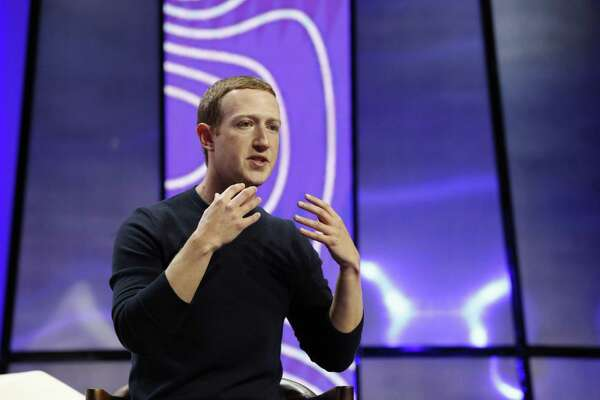 Mark Zuckerberg, chief executive officer and founder of Facebook Inc., speaks during the Silicon Slopes Tech Summit in Salt Lake City, on Jan. 31, 2020.