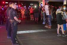 When Midland police pulled their members back, protesters turned their attention to block the intersection of Midkiff and Loop 250 05/31/2020 night to continue their protest. Tim Fischer/Reporter-Telegram