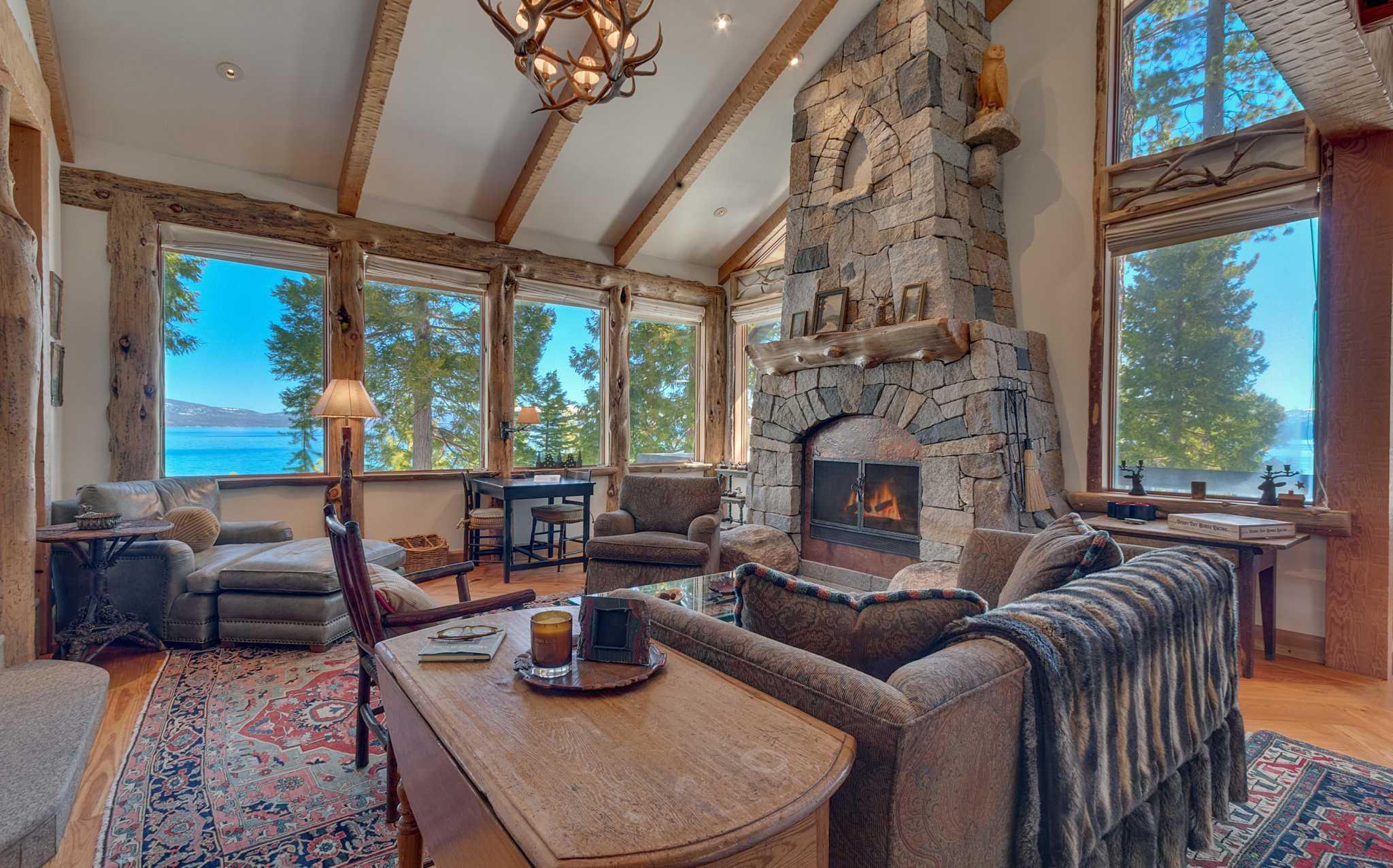 Getaway: Four-bedroom cabin in Chambers Landing overlooking Lake Tahoe