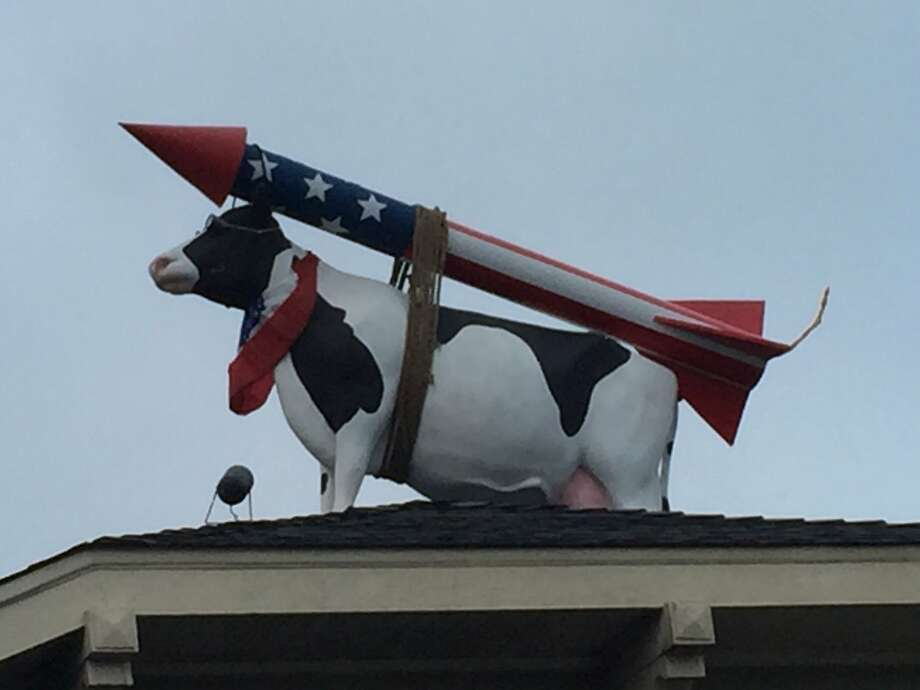 Ask not why the cow is on the roof: ask why the house is under the cow. Photo: Kevin Fisher-Paulson