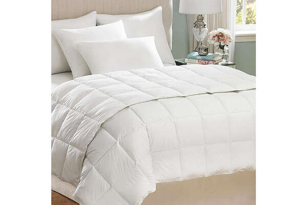 Best Cooling Comforter for Allergy Sufferers Hot Water Washable Comforter AllerEase amazon.com $73.99 (18% off)