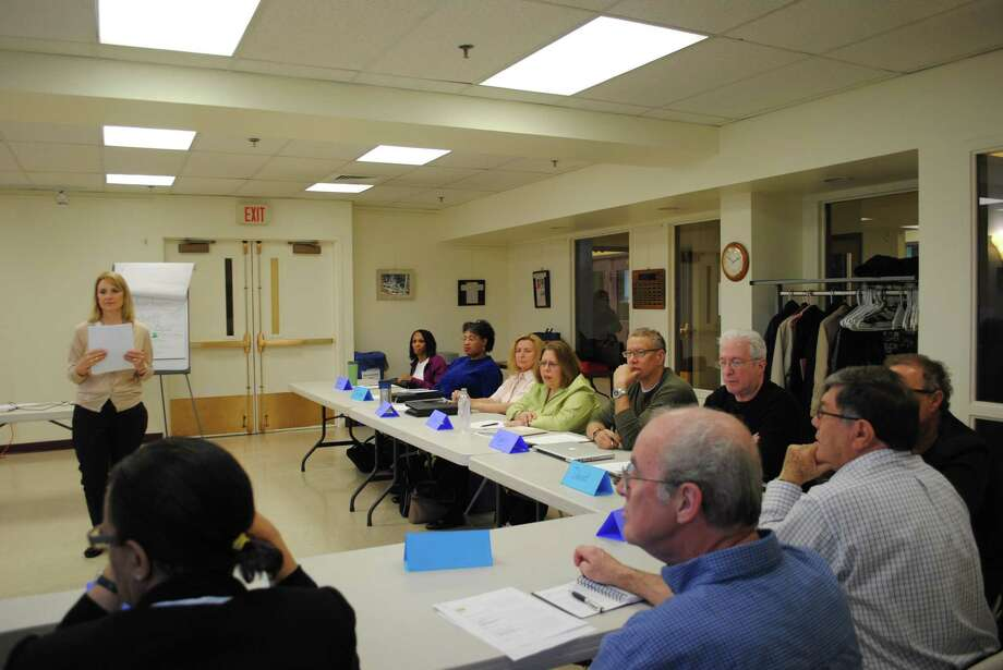 A file photo of a training workshop at The Workplace in Bridgeport, Conn., which has redesigned its Platform 2 Employment program for those unemployed at least six months to incorporate changes created by the coronavirus pandemic of COVID-19. Photo: Hearst Connecticut Media File Photo