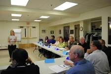 A file photo of a training workshop at The Workplace in Bridgeport, Conn., which has redesigned its Platform 2 Employment program for those unemployed at least six months to incorporate changes created by the coronavirus pandemic of COVID-19.