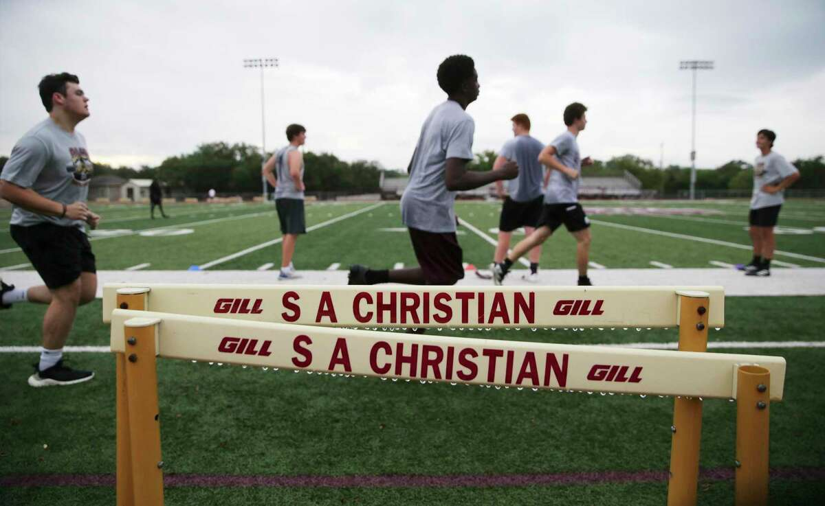 There were 36 members of the San Antonio Christian football team at a one-hour workout on Monday, its first since the shutdown.