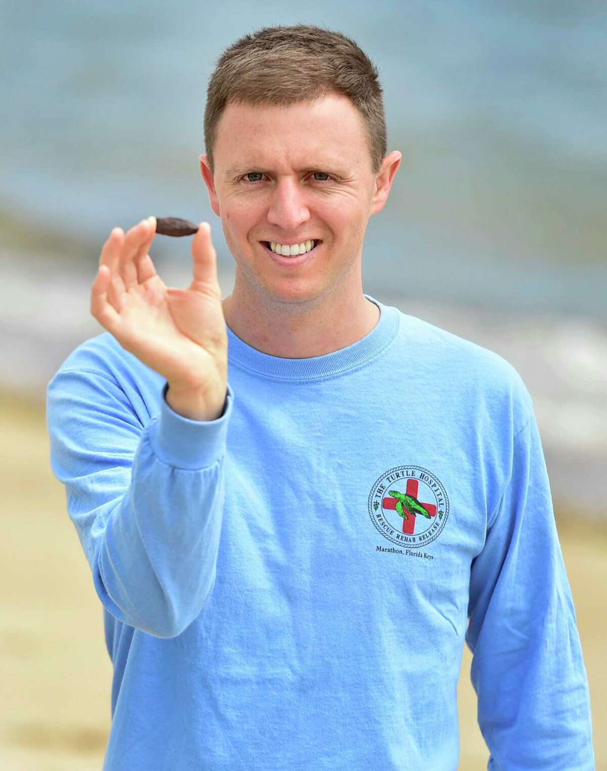 Evan Honeyman of Farmington found a verified Native American arrowhead or spear point on Quotonset Beach in Westbrook recently.