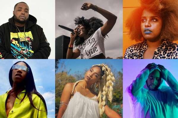 Bigg Fatts, clockwise top left, Lyric Michelle, Kam Franklin, STOO, Robyn Troup, Attxla