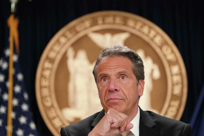 Gov. Andrew Cuomo delivers his daily coronavirus briefing on Monday June 1, 2020, during a press conference in New York. (Office of the Governor)