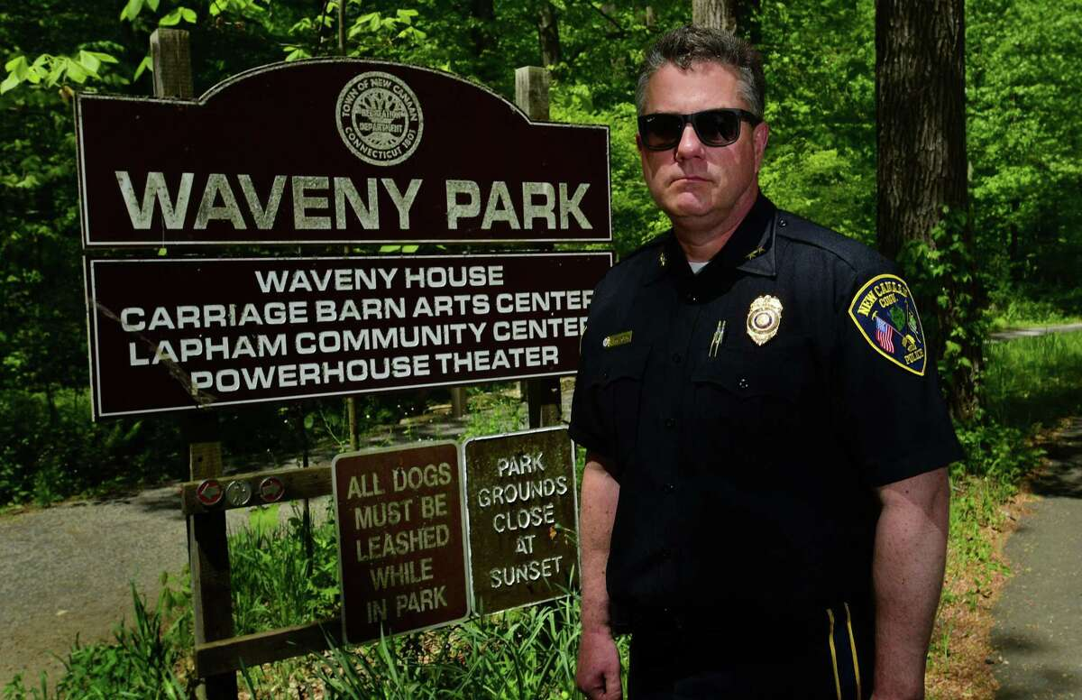 New Canaan Chief of Police Leon Krolikowski in shown here in Waveny Park recently. Krolikowski has given a statement about the death of George Floyd, and the protests that have resulted in Connecticut, and the U.S. since then.