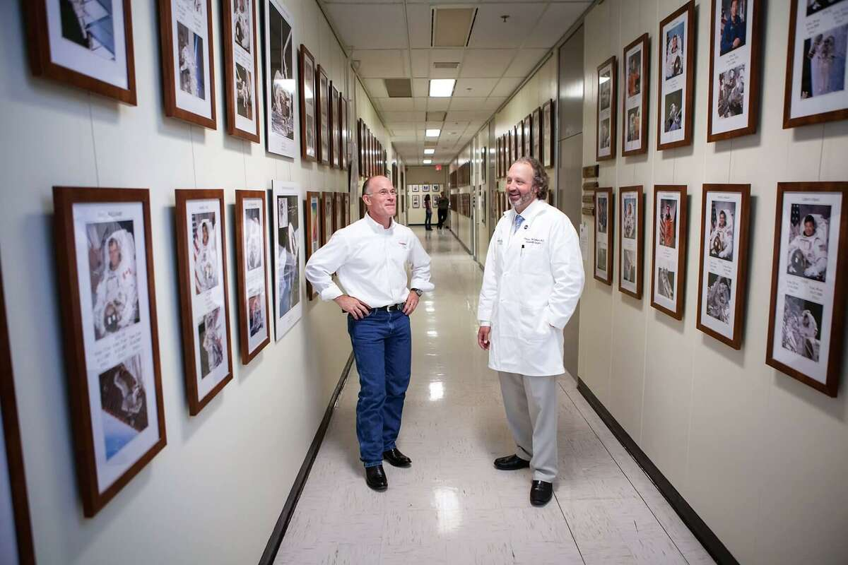 Dr. Rick Scheuring, left, and Dr. Patrick McCulloch helped develop a partnership between NASA and Houston Methodist to start the Johnson Space Center Flight Medicine Clinic.