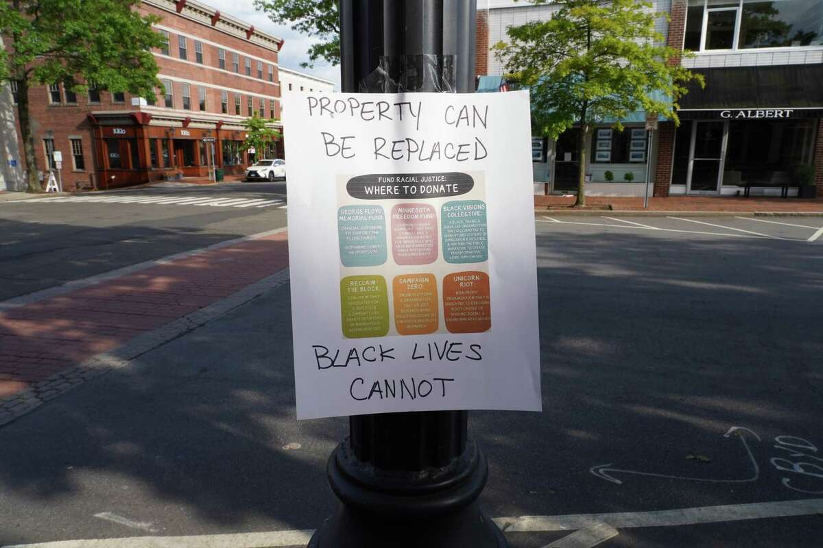Someone in New Canaan recently posted anti-racism signs on Elm Street, and Main Street in the town. This letter writer asks,
