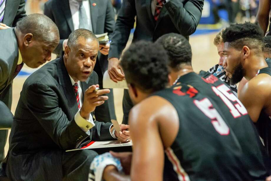 The Lamar Cardinals headed to Lake Charles to take on the McNeese Cowboys on February 1, 2020. Fran Ruchalski/The Enterprise Photo: Fran Ruchalski/The Enterprise / Fran Ruchalski/The Enterprise/ / 2019 The Beaumont Enterprise
