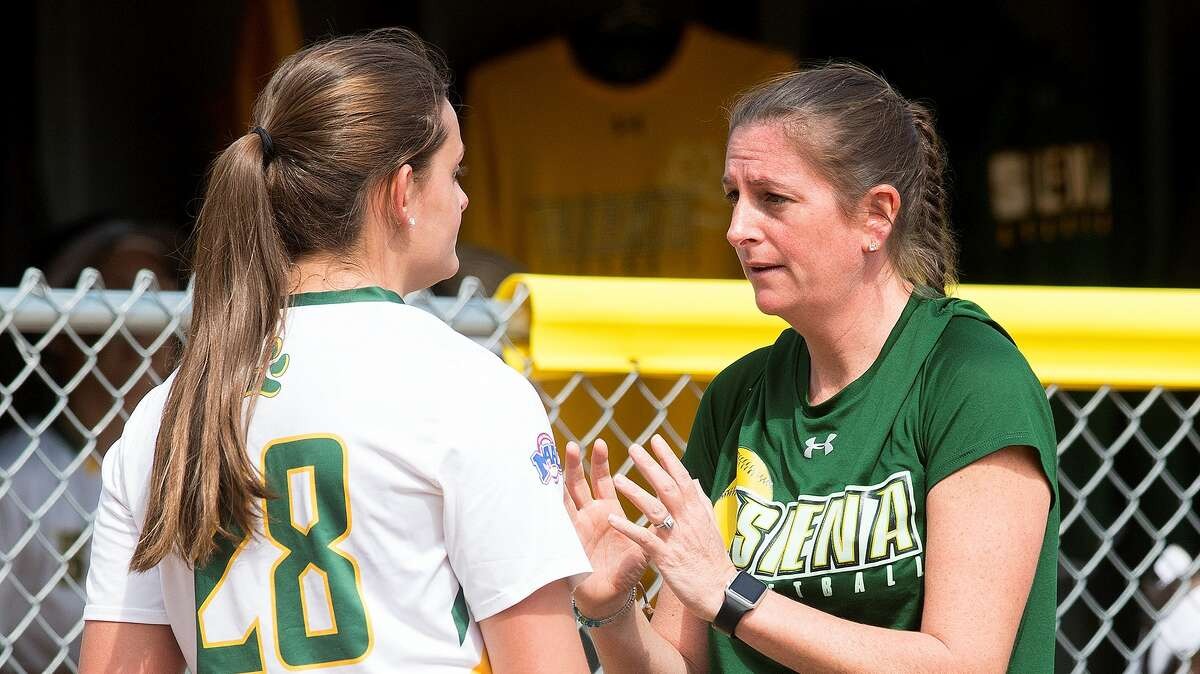 Casey Bump, right, was named Siena's softball head coach on Monday. (Courtesy of Siena College Athletics)