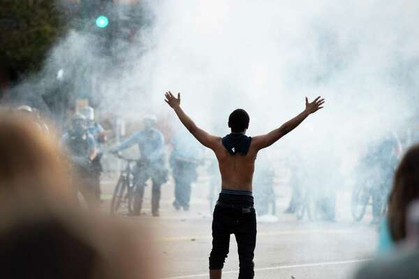 May 27: Minneapolis daytime marches Police fire tear gas at protestors in Minneapolis during the second day of protests over the death of George Floyd. This slideshow was first published on Stacker