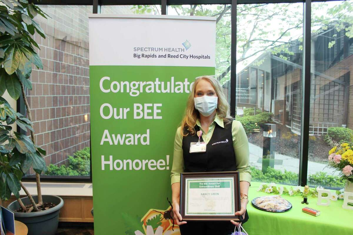 Bee Winner Nancy Green was recognized for her caring attitude for patients while working in patient registration. (Submitted photo)