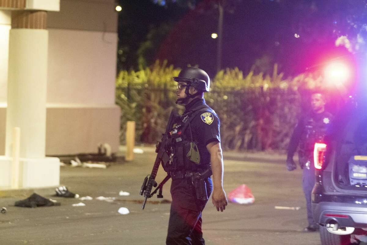 Police officers shot a man while responding to reports of a burglary at Walgreens in Vallejo, Calif., early Tuesday, June 2, 2020. Vallejo Police Chief Shawny Williams said an officer shot and killed Sean Monterrosa, 22, of San Francisco, who was unarmed but possessed a hammer.
