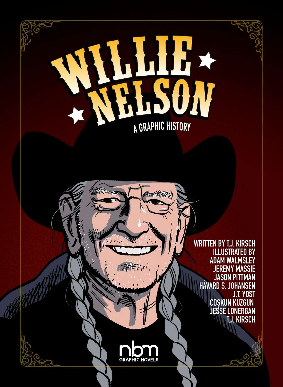 TJ Kirsch, of East Greenbush, authored a graphic novel on Willie Nelson.