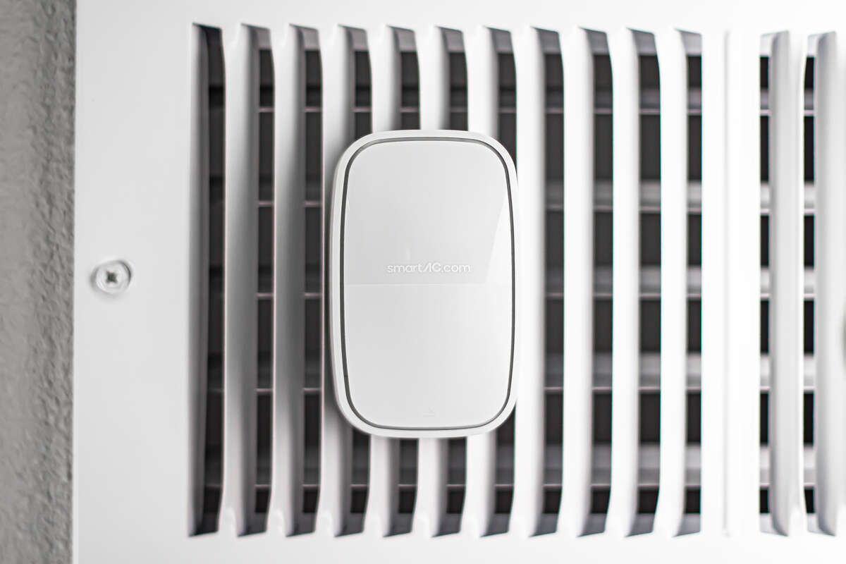 SmartAC.com's self-installed product gives owners of residential air conditioning systems a warning if a failure is imminent. Sensors go behind the AC filter, on a vent and in the water pan, and alerts are sent to a smartphone if an issue is developing.