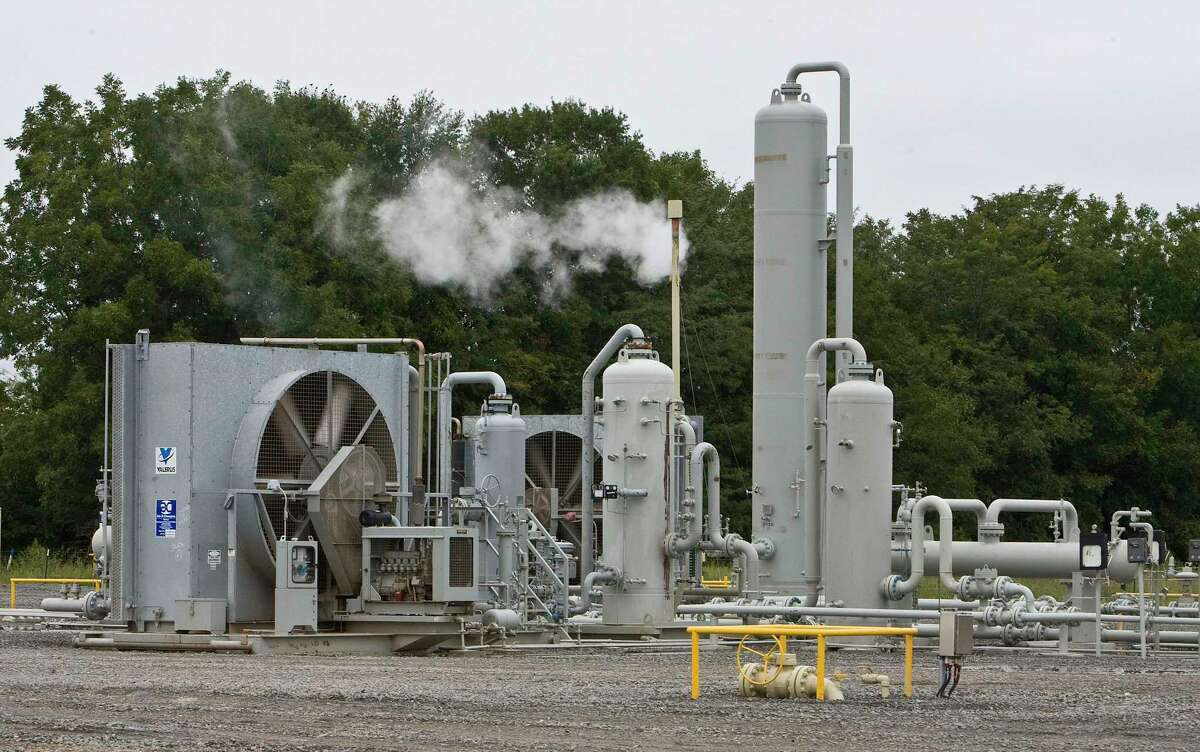 A CenterPoint Energy natural gas treatment facility in 2009. CenterPoint received $286 million, 28 percent less than it was expecting, for its natural gas unit.