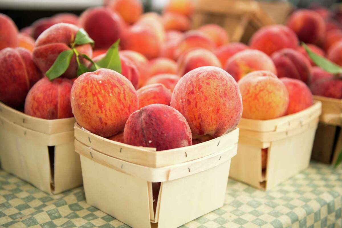 Hopefully these mouthwatering peaches from a past Westport Farmers' Market were eaten on the spot or turned into a pie.