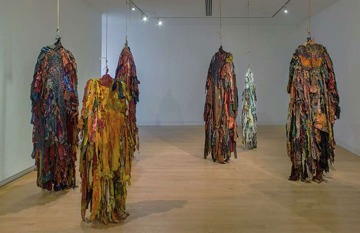 Harmony Hammond: Material Witness, Five Decades of Art, The Aldrich Contemporary Art Museum, March 3 to September 15, 2019 (installation view, Presences, 1971-72), Courtesy of the artist and Alexander Gray Associates, New York © Harmony Hammond / Artists Rights Society (ARS), NY.