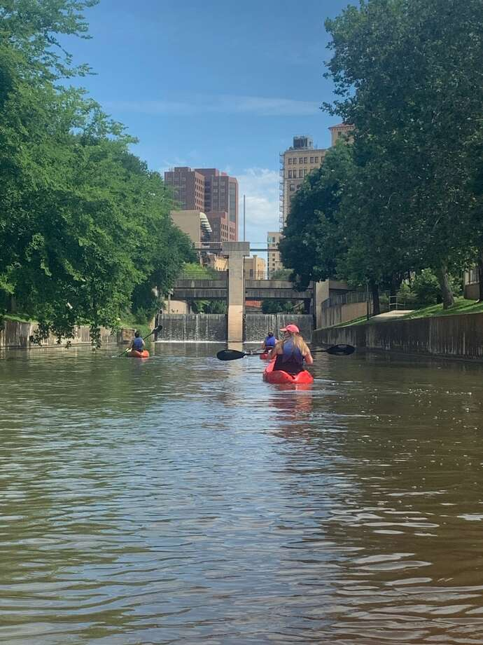 With people desperate to get out of the house while practicing safe social distancing, Mission Adventure Tours's kayak rental sales have soared this year. Photo: Taylor Pettaway