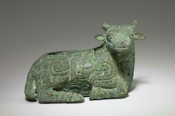 "A recumbent water buffalo in bronze dating to the 9th century BCE and China's Western Zhou dynasty is among the objects on view in ""Eternal Offerings: Chinese Ritual Bronzes,"" on view Feb. 29-Aug. 9 at Asia Society Texas Center."