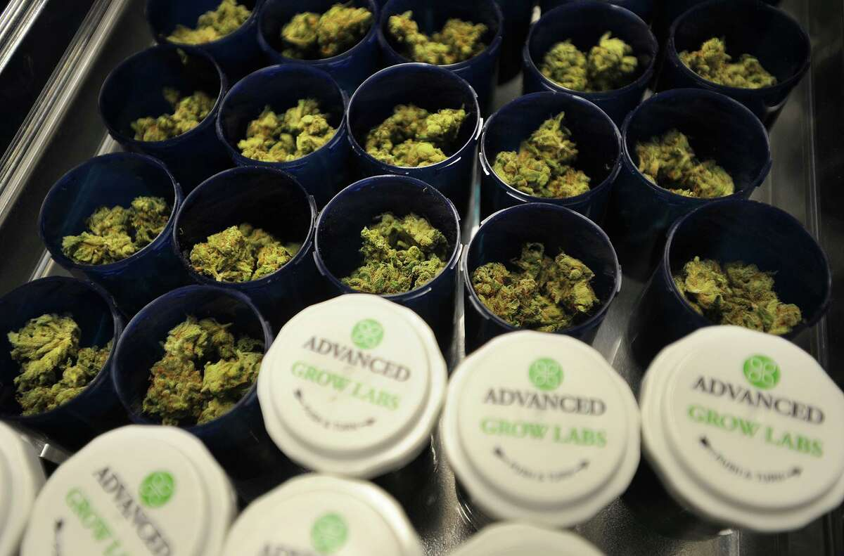 Packaged medical marijuana at Advanced Grow Labs in West Haven