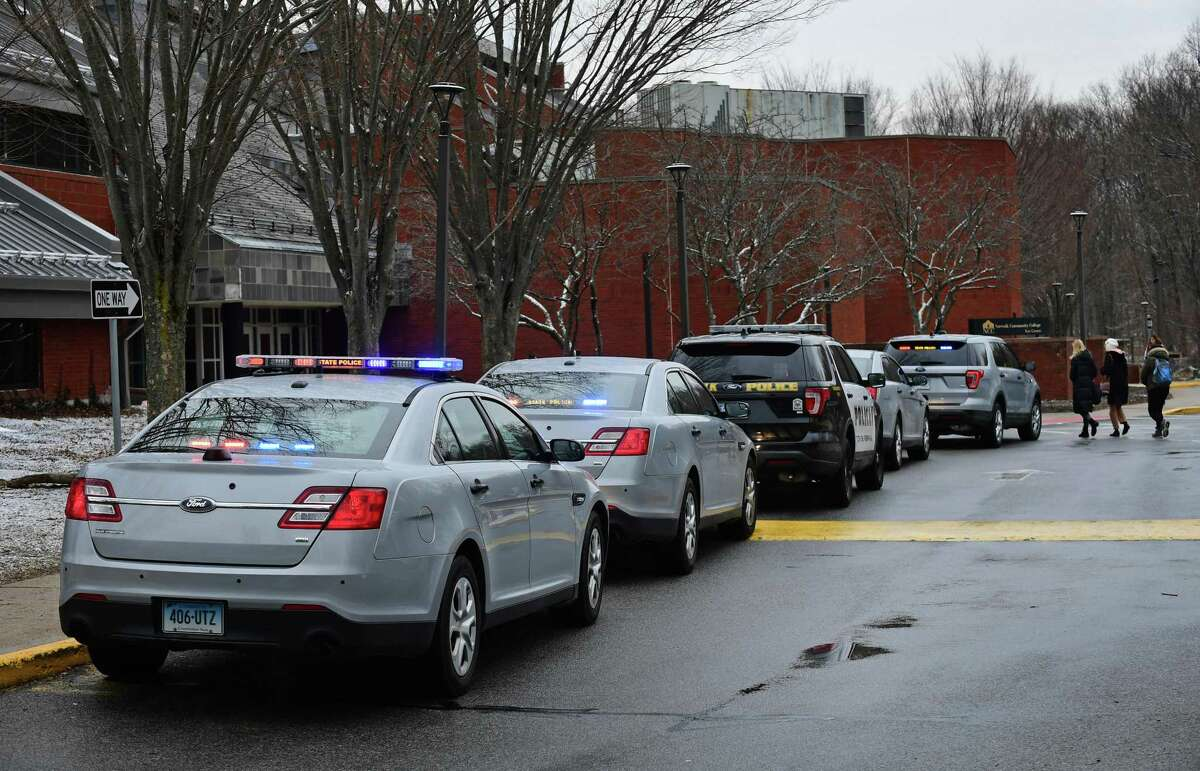 State and local police respond to Norwalk Community College in 2019