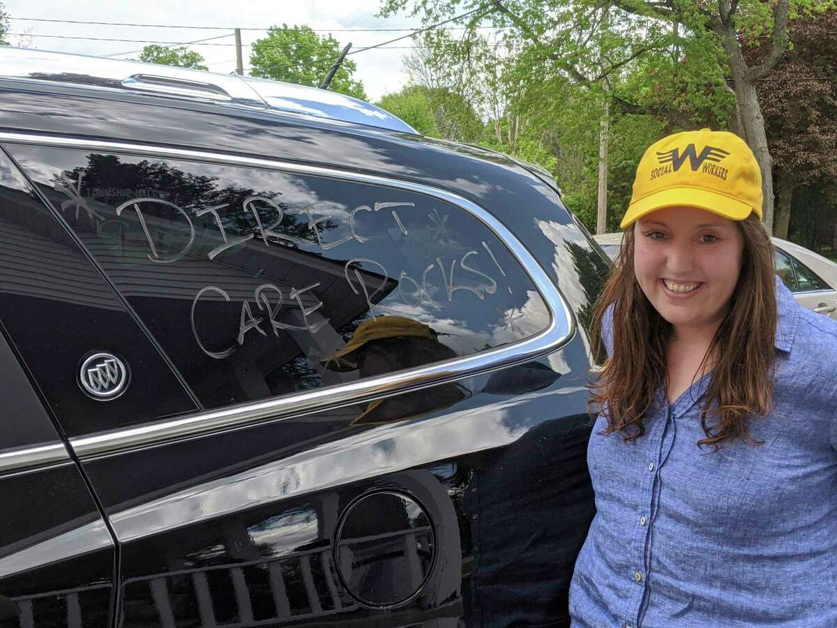 Mecosta County CMH Case Manager Alison Kienitz was one of several CMH employees who decorated their vehicles in the parade. (Courtesy photo)